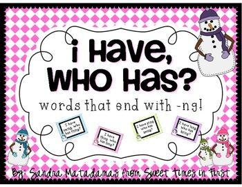 I Have Who Has -NG Words