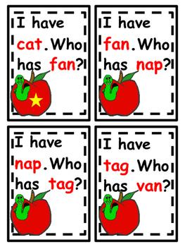 I Have...Who Has? /a/ CVC Cards
