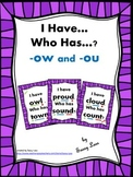 I Have... Who Has..? -ow and -ou sounds Common Core Aligned