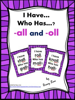I Have... Who Has...? all and oll Common Core Aligned
