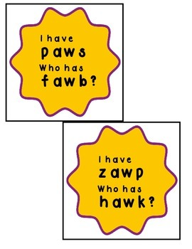 """I Have, Who Has """"aw"""" words"""