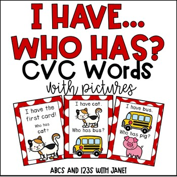 I Have, Who Has {cvc words}