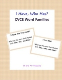 I Have, Who Has cvce Word Families