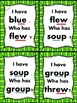 I Have... Who Has..? -ew -ue -oo -ui -ou vowel digraph sounds CCSS