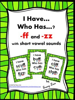 I Have... Who Has...? ff and zz digraphs with short vowels Common Core Aligned