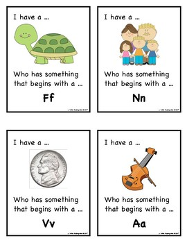 I Have, Who Has for Beginning Sounds