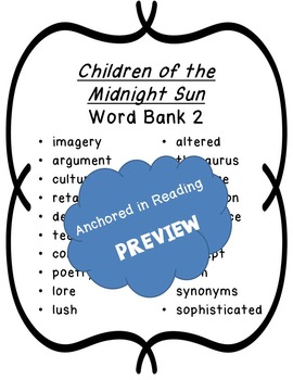 I Have Who Has for 'Children of the Midnight Sun' Shortened Anthology Version