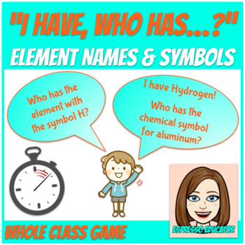 """I Have, Who Has"" for Element Names and Symbols"