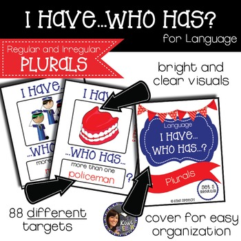 I Have Who Has for Language {Regular and Irregular PLURALS}