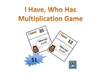 I Have, Who Has for Multiplication