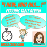 """""""I Have, Who Has"""" for Periodic Table Review"""