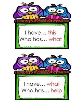 I Have Who Has Sight Words Kindergarten Bundle {Units 1-10}