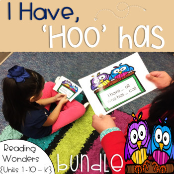 I Have Who Has Sight Words Kindergarten Bundle {Units 1-10}