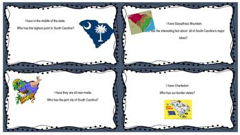 I Have, Who Has for South Carolina History!!