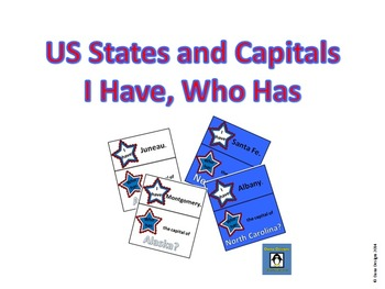 I Have, Who Has for US States and Capitals