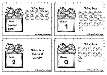 I Have, Who Has...? game - Numbers & Pictures 1-20