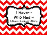I Have Who Has long o (o, oa, ow)