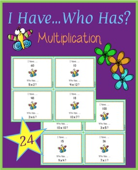 I Have Who Has - multiplication (butterfly)