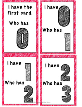 I Have, Who Has number recognition
