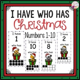 Dollar Deals! I Have Who Has numbers 1-10 Game-Christmas G