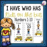 Dollar Deals! I Have Who Has numbers 1-10 Game-Kids on the Bus