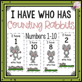 Dollar Deals! I Have Who Has numbers 1-10 Game-Rabbit Coun