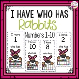 Dollar Deals! I Have Who Has numbers 1-10 Game-Rabbit Themed