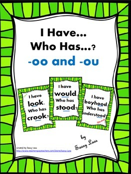 I Have... Who Has..? -oo and -ou /oo/ sound Common Core Aligned