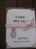 I Have, Who Has ready-made set! Capital & Lowercase Letters recognition