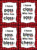 I Have... Who Has... -ss digraph with short vowels Common