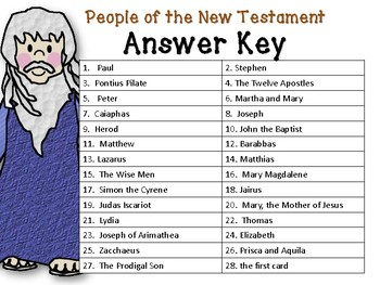 I Have Who Has the People of the New Testament