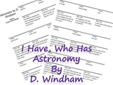 I Have, Who Has...Astronomy
