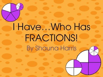 I Have, Who Has...FRACTIONS!