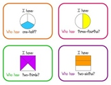 I Have, Who Has...Fractions Activity (2.G.3)