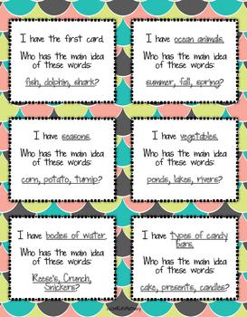 I Have, Who Has...Identify the Main Idea (Set 2)