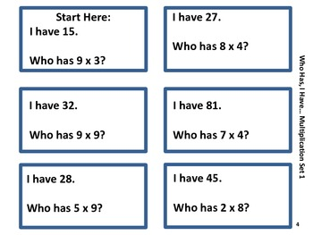 I Have, Who Has...Multiplication - 2 Sets in 1!