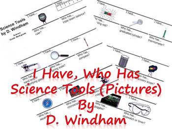 I Have, Who Has...Science Tools (Pictures only)