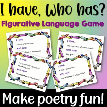 I Have, Who has?  Game for Teaching Figurative Language and Poetry