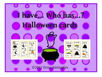 I Have... Who has? Halloween Game Cards