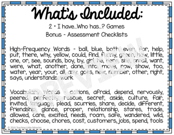 I Have...Who has...? High-Frequency and Vocabulary Words - Set 1