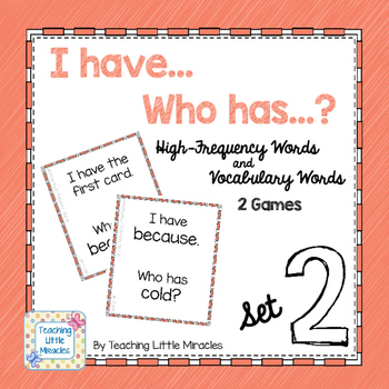 I Have...Who has...? High-Frequency and Vocabulary Words - Set 2