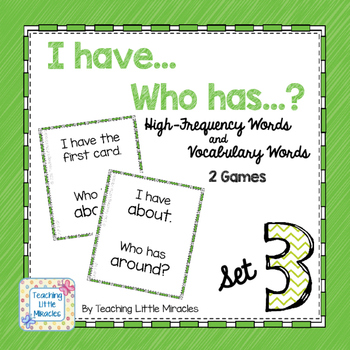 I Have...Who has...? High-Frequency and Vocabulary Words - Set 3