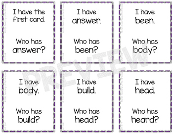 I Have...Who has...? High-Frequency and Vocabulary Words - Set 5