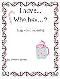 I Have... Who has...? Long o (oa, ow, and o)