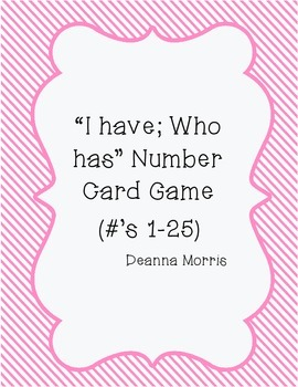 """I Have; Who has"" Number Cards (using numbers and base ten blocks)"