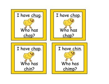I Have, Who has for Digraph CH