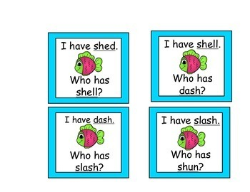 I Have, Who has for Digraph SH