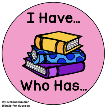 I Have, Who has for OO as in Book