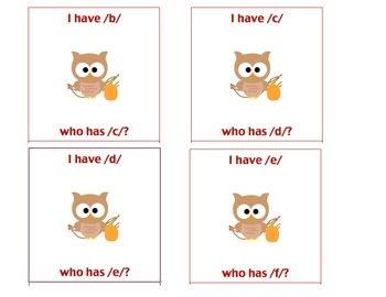 I Have-Whoo Has Owl Letter Sounds