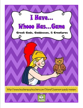 I Have, Whooo Has Greek Gods, Goddesses, & Creatures Game